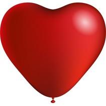Rode Hartjes Ballonnen 25cm 6 stuks