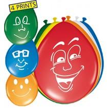 Verjaardag Ballonnen Gezichten 30cm 8 stuks