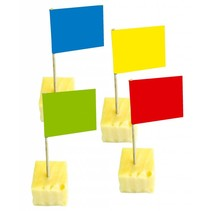 Gekleurde Vlaggenprikkers 50 stuks