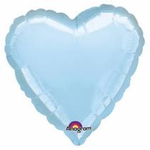 Helium Ballon Hart Lichtblauw 45cm leeg