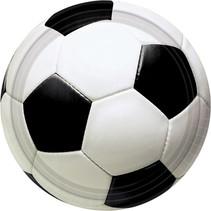 Voetbal Gebaksbordjes 18cm 8 stuks
