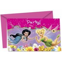 Tinkerbell Uitnodigingen 6 stuks