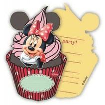 Minnie Mouse Uitnodigingen Versiering 6 stuks