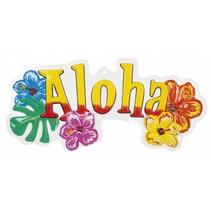 Hawaii Wanddecoratie Aloha 55cm