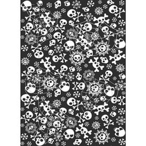 Halloween Tafelkleed Skelet 1,8 meter