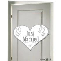 Deurbord Just Married 45cm