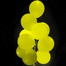 Gele Led Ballonnen met schakelaar 30cm 4 stuks