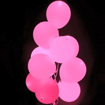 Roze Led Ballonnen met schakelaar 30cm 4 stuks