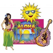 Hawaii Wanddecoratie Set 4 delig