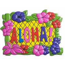Hawaii Wanddecoratie Bord Aloha 49cm