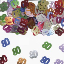 Tafelconfetti 80 Jaar 1cm 600 stuks