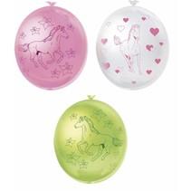 Paarden Ballonnen Versiering 25cm 6 stuks