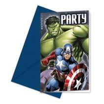 Avengers Uitnodigingen 6 stuks