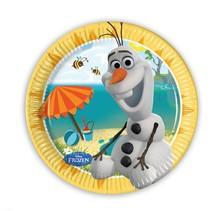 Frozen Gebaksbordjes Olaf 20cm 8 stuks