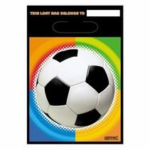 Voetbal Uitdeelzakjes 8 stuks