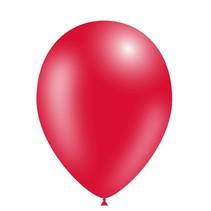 Rode Ballonnen Metallic 25cm 10 stuks