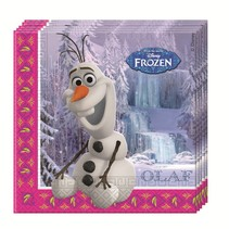 Frozen Servetten Anna, Elsa en Olaf 20 stuks