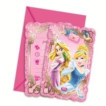Disney Prinsessen Uitnodigingen Dieren 6 stuks