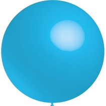 Lichtblauwe Reuze Ballon XL 91cm