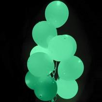 Mintgroene Led Ballonnen met schakelaar 30cm 4 stuks