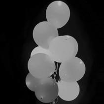 Zilveren Led Ballonnen Metallic met schakelaar 30cm 4 stuks
