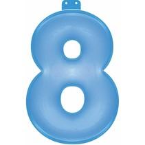 Opblaascijfer 8 Blauw 35cm