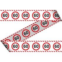 Afzetlint 60 jaar Verkeersbord 15 meter