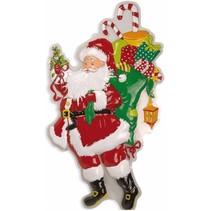 Kerstman Wanddecoratie met snoep 97cm