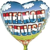 Welkom Thuis Ballon voor lucht 45cm leeg
