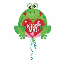 Helium Ballon Kiss Me 45cm leeg