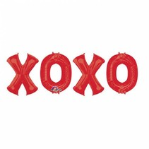 Helium Ballon XOXO set 95cm leeg