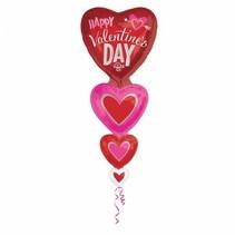 Helium Ballon Happy Valentine's Day XL 157cm leeg
