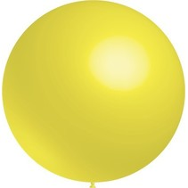Lichtgele Reuze Ballon 60cm