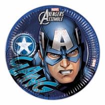 Avengers Borden Captain America 23cm 8 stuks