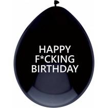 Ballonnen Happy F*cking Birthday 30cm 5 stuks