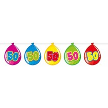 Slingers 50 Jaar Ballonnen 10 meter