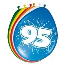 Ballonnen 95 Jaar 30cm 8 stuks