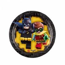 Batman Lego Gebaksbordjes 18cm 8 stuks