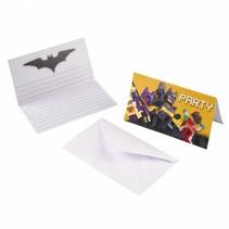 Batman Lego Uitnodigingen 8 stuks