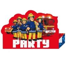 Fireman Sam Uitnodigingen Versiering 8 stuks