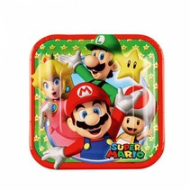Super Mario Gebaksbordjes 18cm 8 stuks