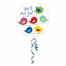 Helium Ballon Wij gaan je missen 43cm leeg