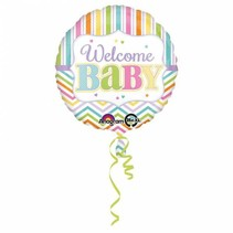 Helium Ballon Geboorte Welkom Baby 43cm leeg