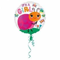 Helium Ballon Geboorte Meisje Ladybug 43cm leeg