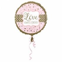 Helium Ballon Liefde voor Altijd 43cm leeg