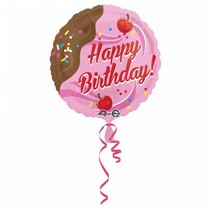 Helium Ballon Happy Birthday Choco Kers 43cm leeg