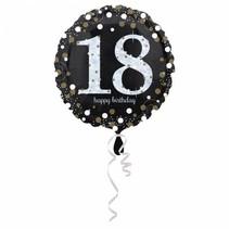Helium Ballon 18 Jaar Zilver 43cm leeg