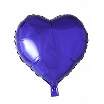 Helium Ballon Hart Paars 46cm leeg