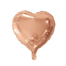 Helium Ballon Hart Rosé Goud 46cm leeg