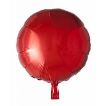 Helium Ballon Rond Rood 46cm leeg